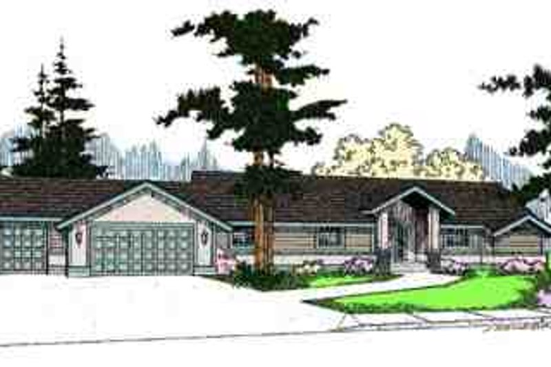 Dream House Plan - Ranch Exterior - Front Elevation Plan #60-624