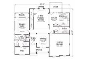 Traditional Style House Plan - 3 Beds 2.5 Baths 2276 Sq/Ft Plan #419-110 Floor Plan - Main Floor Plan