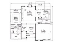 Traditional Floor Plan - Main Floor Plan Plan #419-110