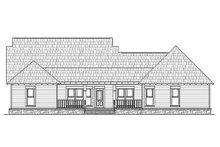 Dream House Plan - Craftsman Exterior - Rear Elevation Plan #21-294