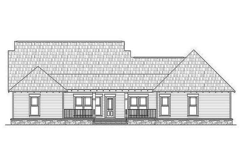 Craftsman Exterior - Rear Elevation Plan #21-294 - Houseplans.com
