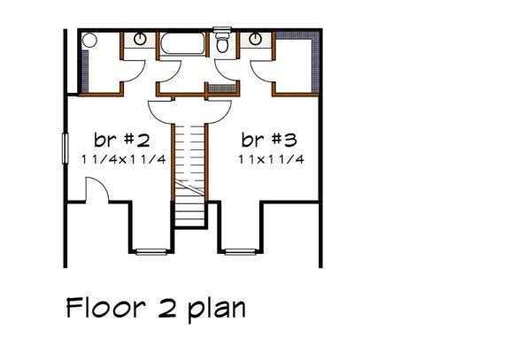 House Plan Design - Country Floor Plan - Upper Floor Plan #79-157