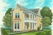 Victorian Style House Plan - 4 Beds 3 Baths 2224 Sq/Ft Plan #413-795 Exterior - Front Elevation