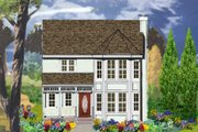 Country Style House Plan - 3 Beds 2.5 Baths 1558 Sq/Ft Plan #3-315 Exterior - Front Elevation