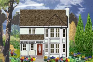 Country Exterior - Front Elevation Plan #3-315