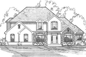 Home Plan - European Exterior - Front Elevation Plan #31-109