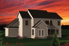 Dream House Plan - Traditional Exterior - Rear Elevation Plan #70-1053