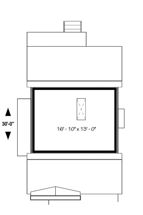 House Plan Design - Unfinished Attic Storage