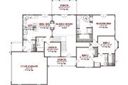 Traditional Style House Plan - 5 Beds 3 Baths 3109 Sq/Ft Plan #63-323 Floor Plan - Main Floor Plan
