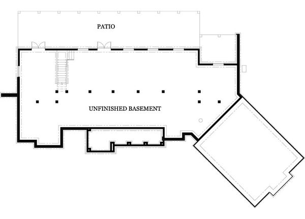 Dream House Plan - Craftsman Floor Plan - Lower Floor Plan #119-367