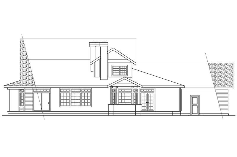 Victorian Exterior - Rear Elevation Plan #124-268