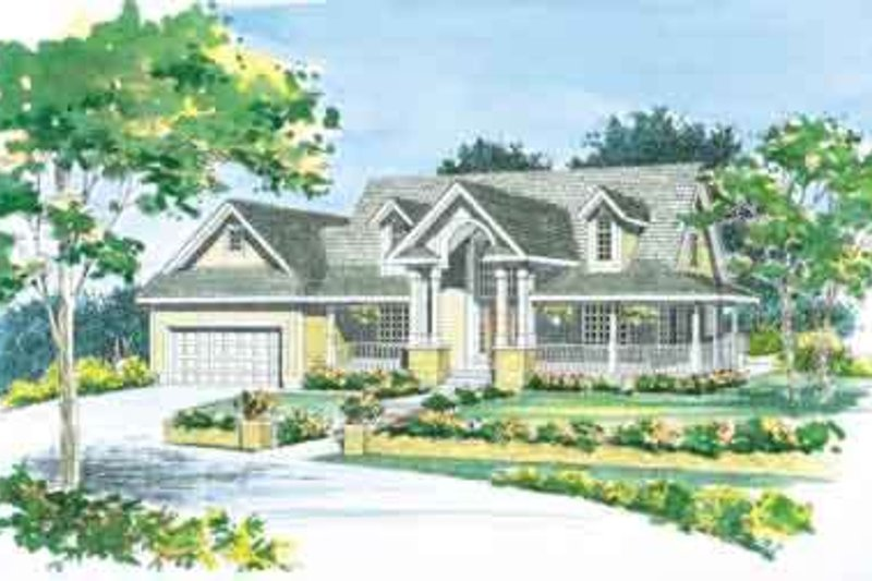 House Blueprint - Traditional Exterior - Front Elevation Plan #72-470