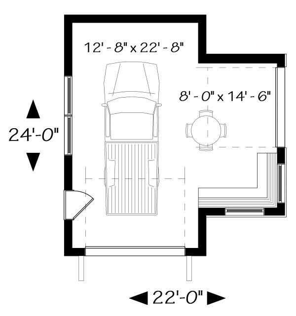 Craftsman Floor Plan - Main Floor Plan Plan #23-2717