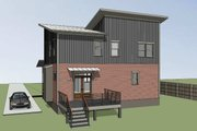 Modern Style House Plan - 3 Beds 2.5 Baths 1571 Sq/Ft Plan #79-298 Exterior - Rear Elevation