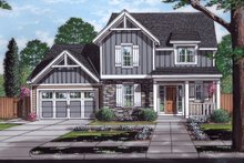 Architectural House Design - Traditional Exterior - Front Elevation Plan #46-890