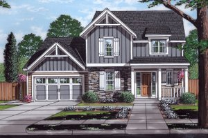 Traditional Exterior - Front Elevation Plan #46-890