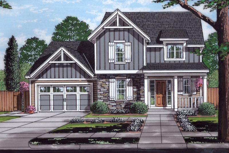 House Plan Design - Traditional Exterior - Front Elevation Plan #46-890