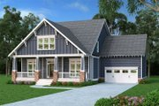 Bungalow Style House Plan - 4 Beds 2.5 Baths 2707 Sq/Ft Plan #419-284 Exterior - Front Elevation
