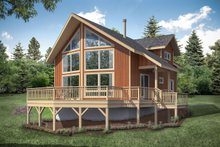 Home Plan - Cabin Exterior - Front Elevation Plan #124-1158