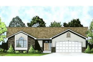 House Plan Design - Ranch Exterior - Front Elevation Plan #58-159