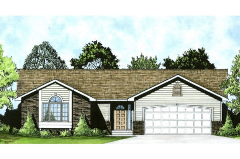 Ranch Exterior - Front Elevation Plan #58-159