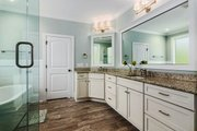 Country Style House Plan - 4 Beds 3.5 Baths 2834 Sq/Ft Plan #927-942 Interior - Master Bathroom