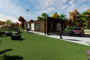 Modern Style House Plan - 2 Beds 2 Baths 1072 Sq/Ft Plan #549-19 Exterior - Rear Elevation