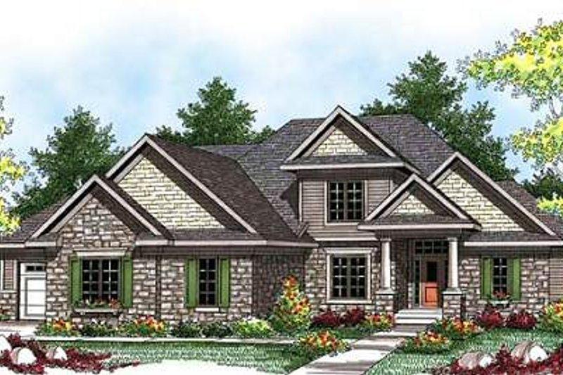 Home Plan - Bungalow Exterior - Front Elevation Plan #70-922