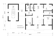 Modern Style House Plan - 3 Beds 2 Baths 1963 Sq/Ft Plan #549-21 Floor Plan - Main Floor Plan