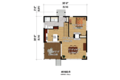Contemporary Style House Plan - 1 Beds 1 Baths 756 Sq/Ft Plan #25-4524 Floor Plan - Main Floor Plan