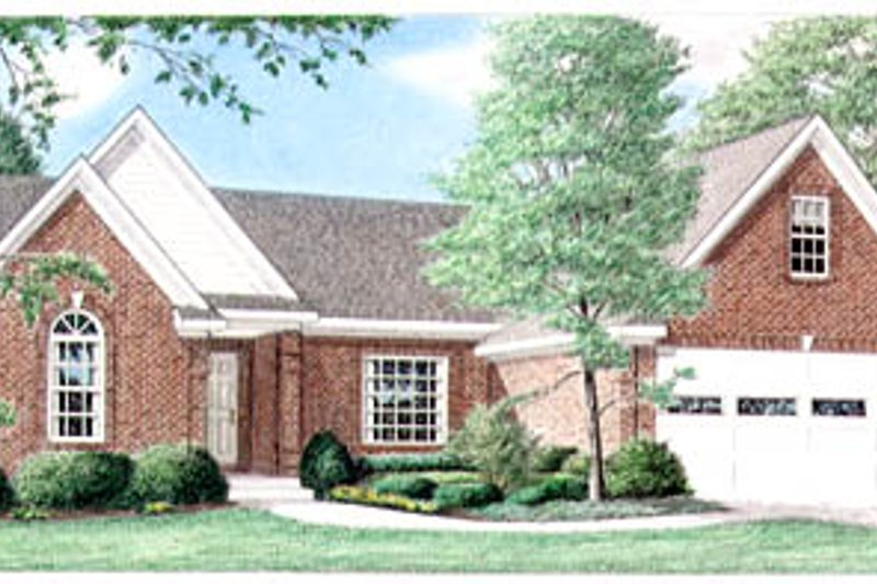 Traditional Exterior - Front Elevation Plan #34-103 - Houseplans.com