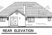 European Style House Plan - 3 Beds 2 Baths 1803 Sq/Ft Plan #18-9027 Exterior - Rear Elevation