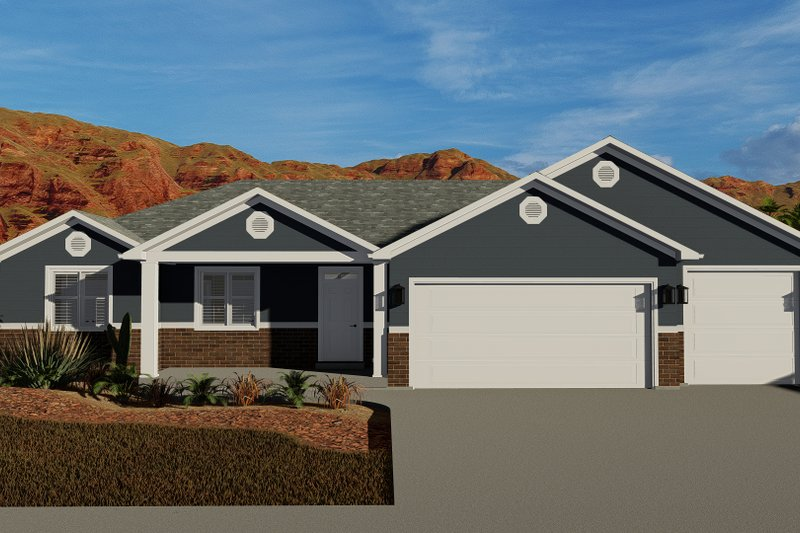 Dream House Plan - Traditional Exterior - Front Elevation Plan #1060-60