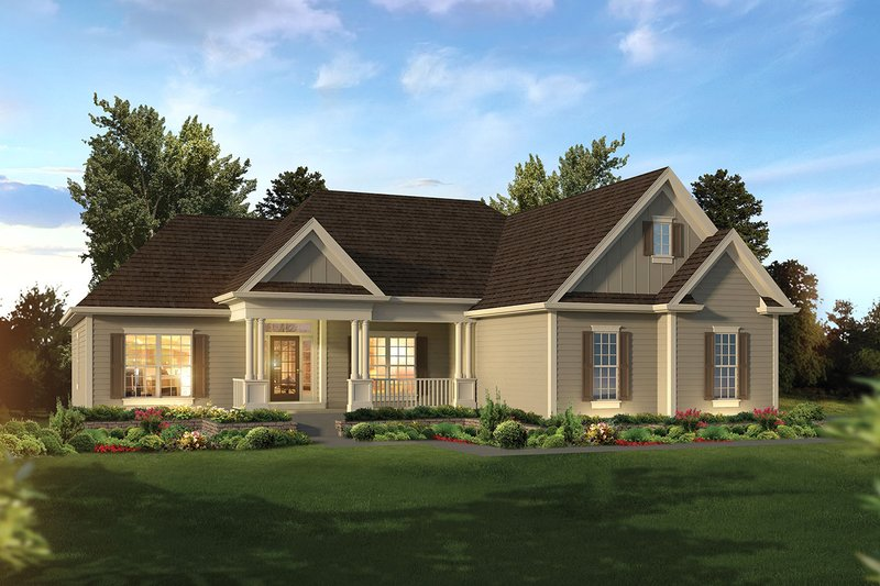 Home Plan - Ranch Exterior - Front Elevation Plan #57-658
