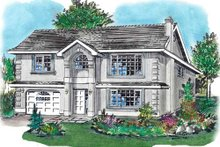Home Plan Design - European Exterior - Front Elevation Plan #18-226