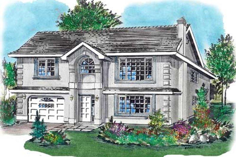 House Blueprint - European Exterior - Front Elevation Plan #18-226