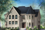 European Style House Plan - 4 Beds 2 Baths 4065 Sq/Ft Plan #25-4675 Exterior - Front Elevation