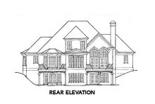 European Exterior - Rear Elevation Plan #429-1