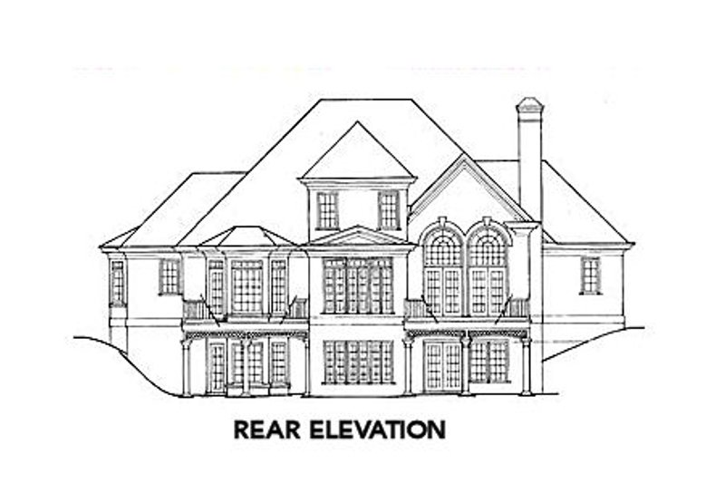 European Exterior - Rear Elevation Plan #429-1 - Houseplans.com