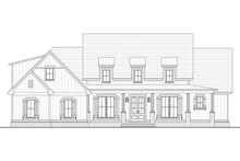 House Plan Design - Farmhouse Exterior - Other Elevation Plan #430-196