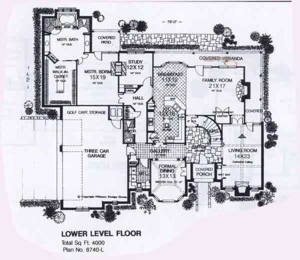 Colonial Floor Plan - Main Floor Plan Plan #310-950