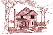 Cottage Style House Plan - 3 Beds 3 Baths 2032 Sq/Ft Plan #79-235 Exterior - Front Elevation