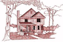 Cottage Exterior - Front Elevation Plan #79-235