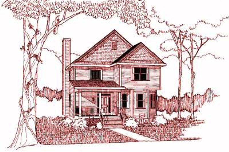 Dream House Plan - Cottage Exterior - Front Elevation Plan #79-235
