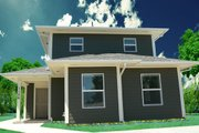 Craftsman Style House Plan - 3 Beds 2 Baths 1264 Sq/Ft Plan #518-7 Exterior - Front Elevation