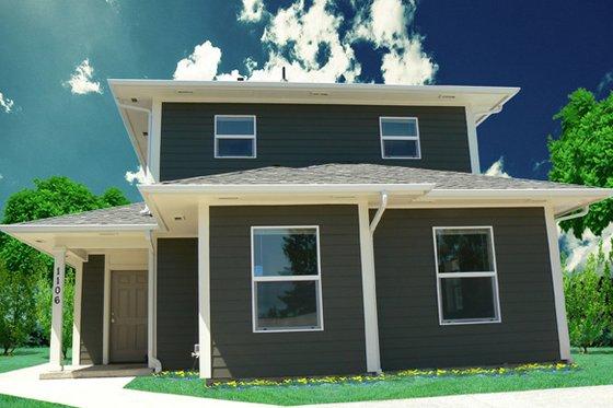 Craftsman Exterior - Front Elevation Plan #518-7