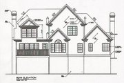 Colonial Style House Plan - 4 Beds 3.5 Baths 2750 Sq/Ft Plan #129-123 Exterior - Rear Elevation