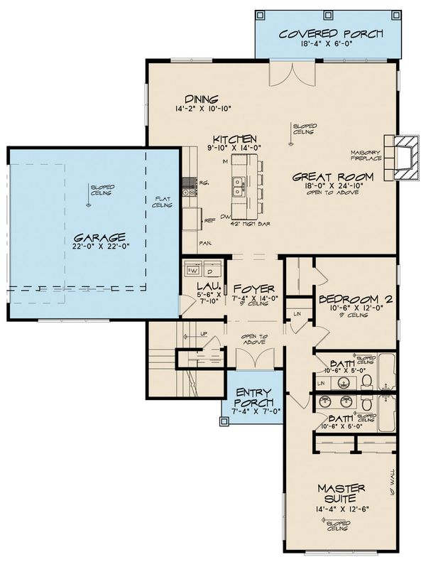 Contemporary Floor Plan - Main Floor Plan Plan #923-52