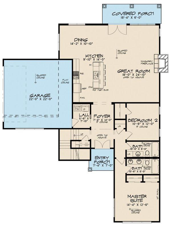 Contemporary Floor Plan - Main Floor Plan Plan #923-52