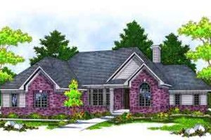 Traditional Exterior - Front Elevation Plan #70-656